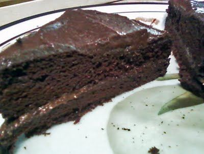 Sugar Free Gluten Free Chocolate Free Cake from Healthy Indulgences Blog -- Chocolate Cake with a secret: It's Healthy--can't wait to try this!!