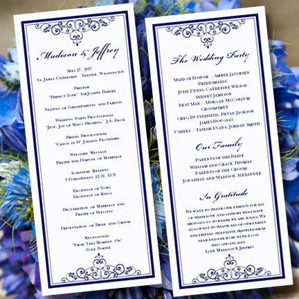 Wedding Program Template  - program templates word