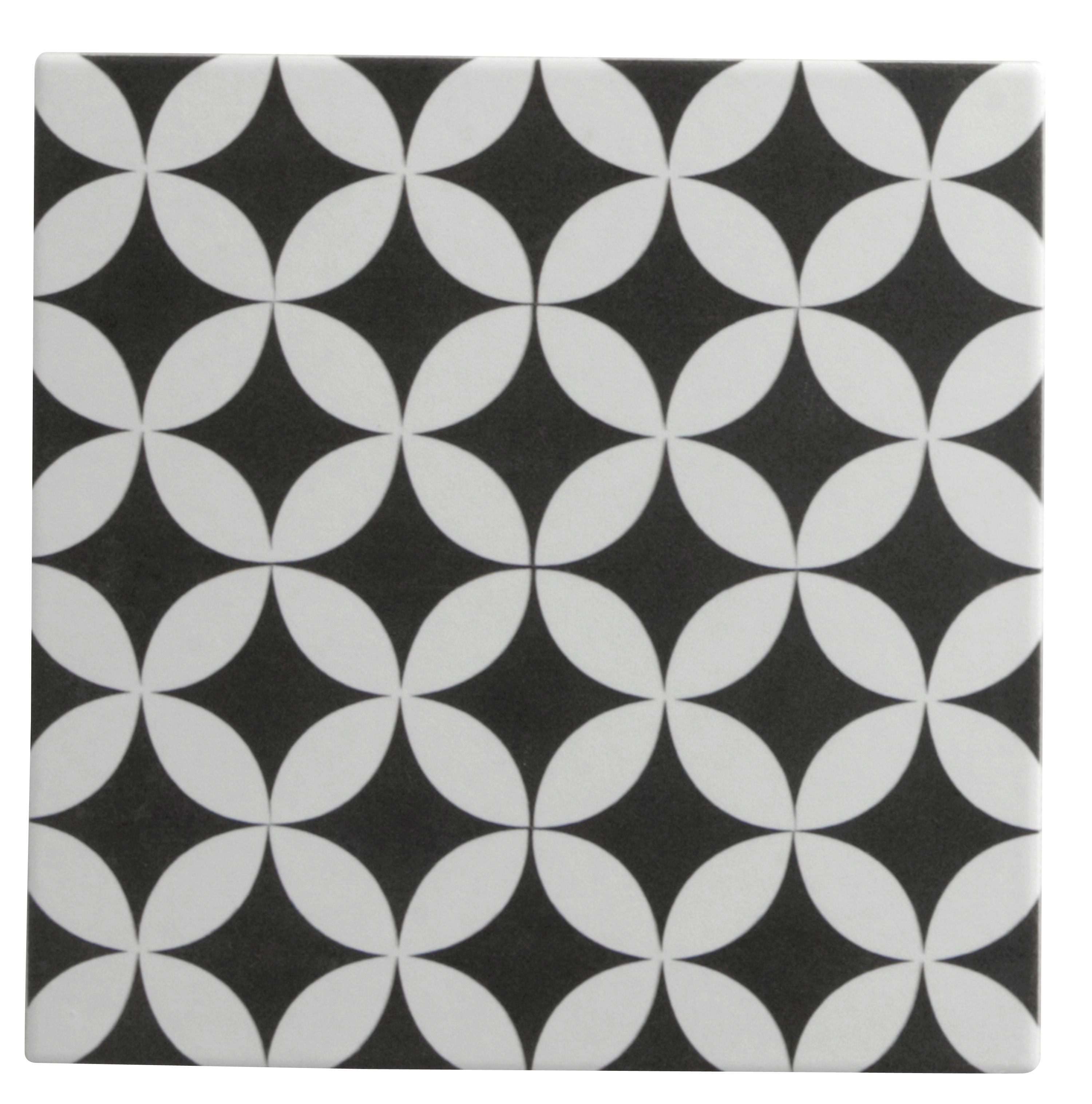 Carrelage Sol Et Mur Noir Blanc Effet Ciment Gatsby L 20 X