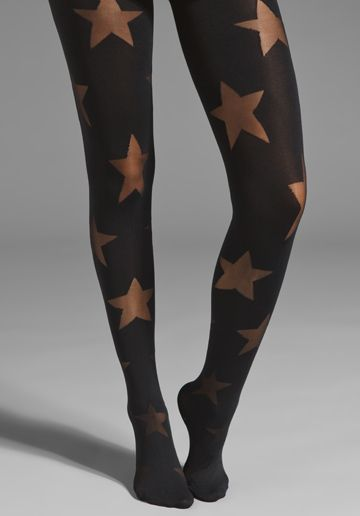 aaeb13ffe6e Pretty Polly House of Holland Reverse Star Tights in Black