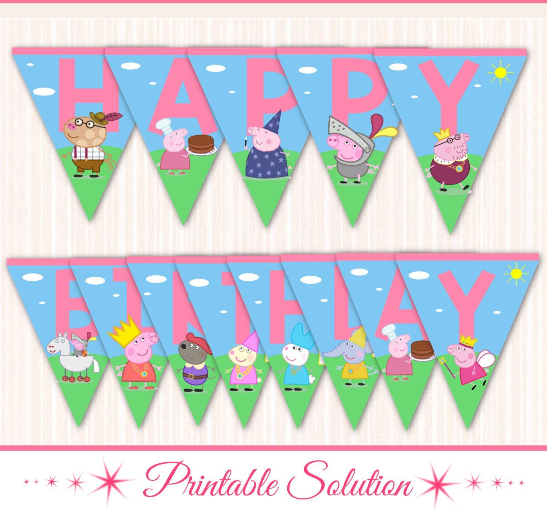 Peppa Pig Banner Peppa Pig Birthday Banner By: Peppa Pig Banner Peppa Pig Birthday Banner Por