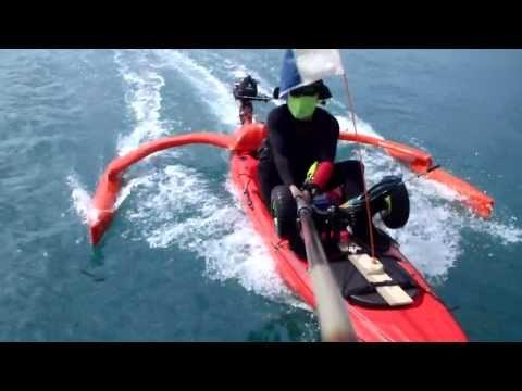 Motorized Kayak Self Made Outrigger Motorized Kayak Kayak Fishing Diy Kayaking