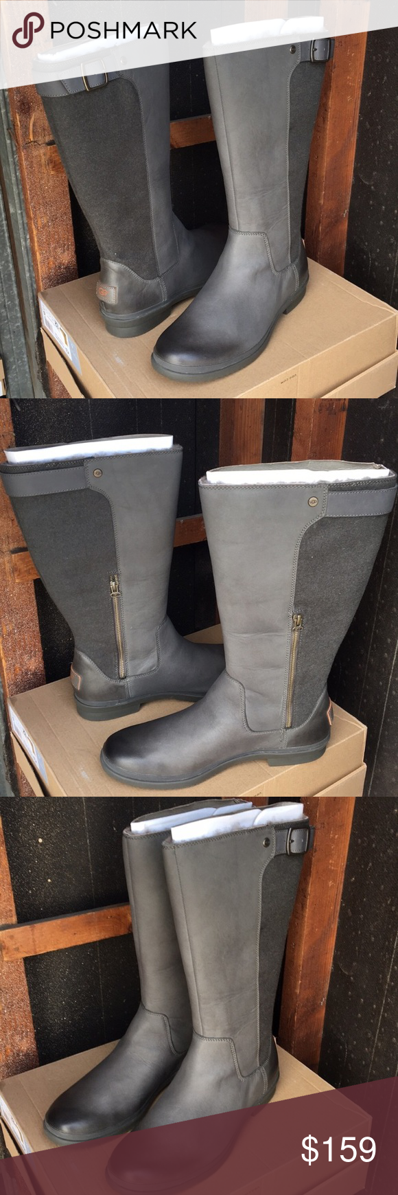 6610e2e17ba ❤️New Ugg Janina Slate Gray color tall boots sz 11 ❤️New Ugg ...