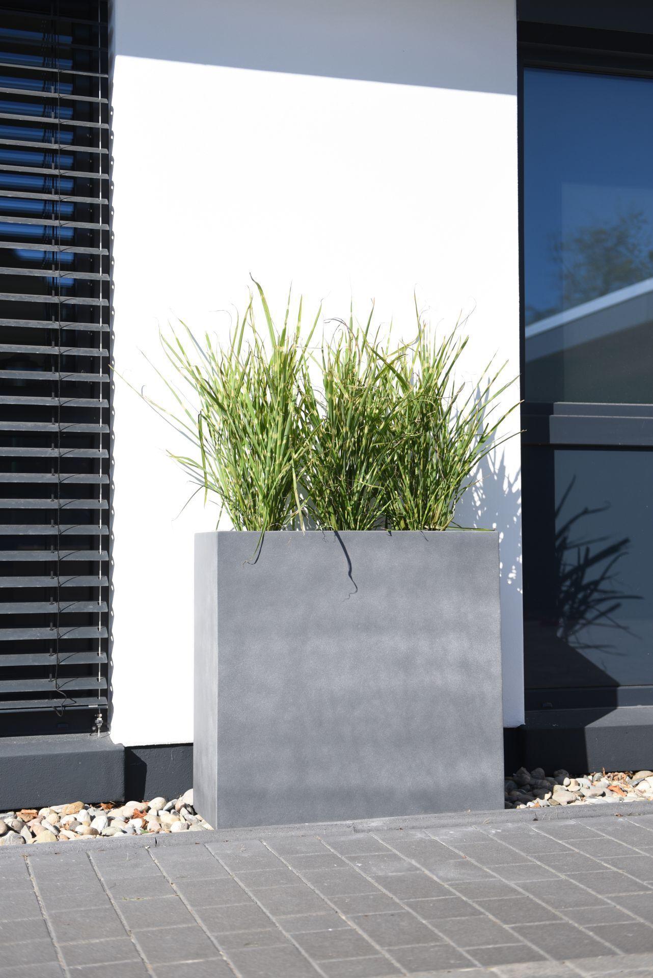 Pflanzkubel Raumteiler Fiberzement Elemento Grau