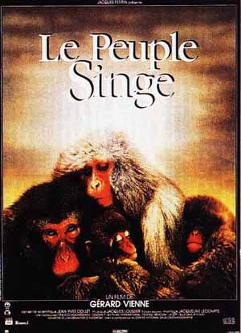 le peuple singe gérard vienne affiche   Le peuple singe [film 1988]