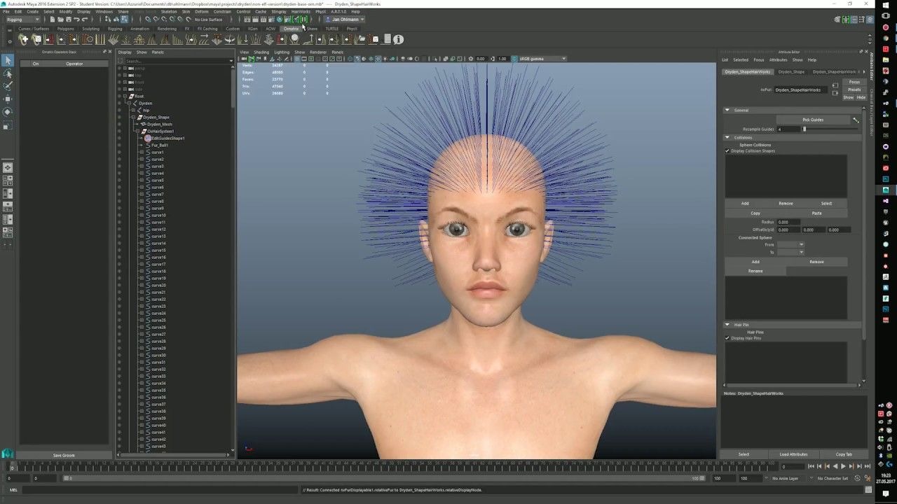 Ornatrix Hair for Games: NVidia Hairworks and Unreal Engine