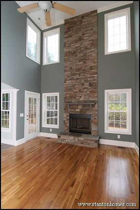 Two Story Living Room Design | Custom Home Building And Design .
