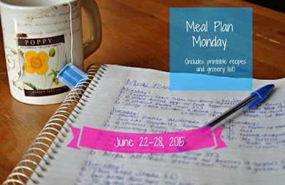 Darcie's Dishes: Meal Plan Monday: 6/22-6/28/15 This simple meal plan will help you stay on track all week long. Each meal and snack is THM compliant. The meal plan is printable and features a printable shopping list as well.