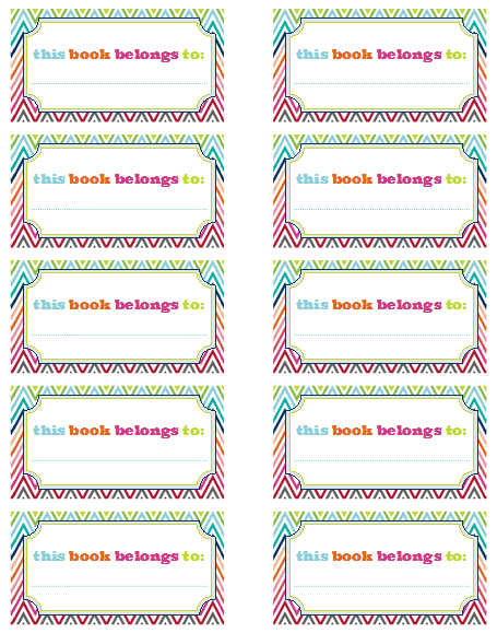 free printable bookplates from jen jones and i heart organizing