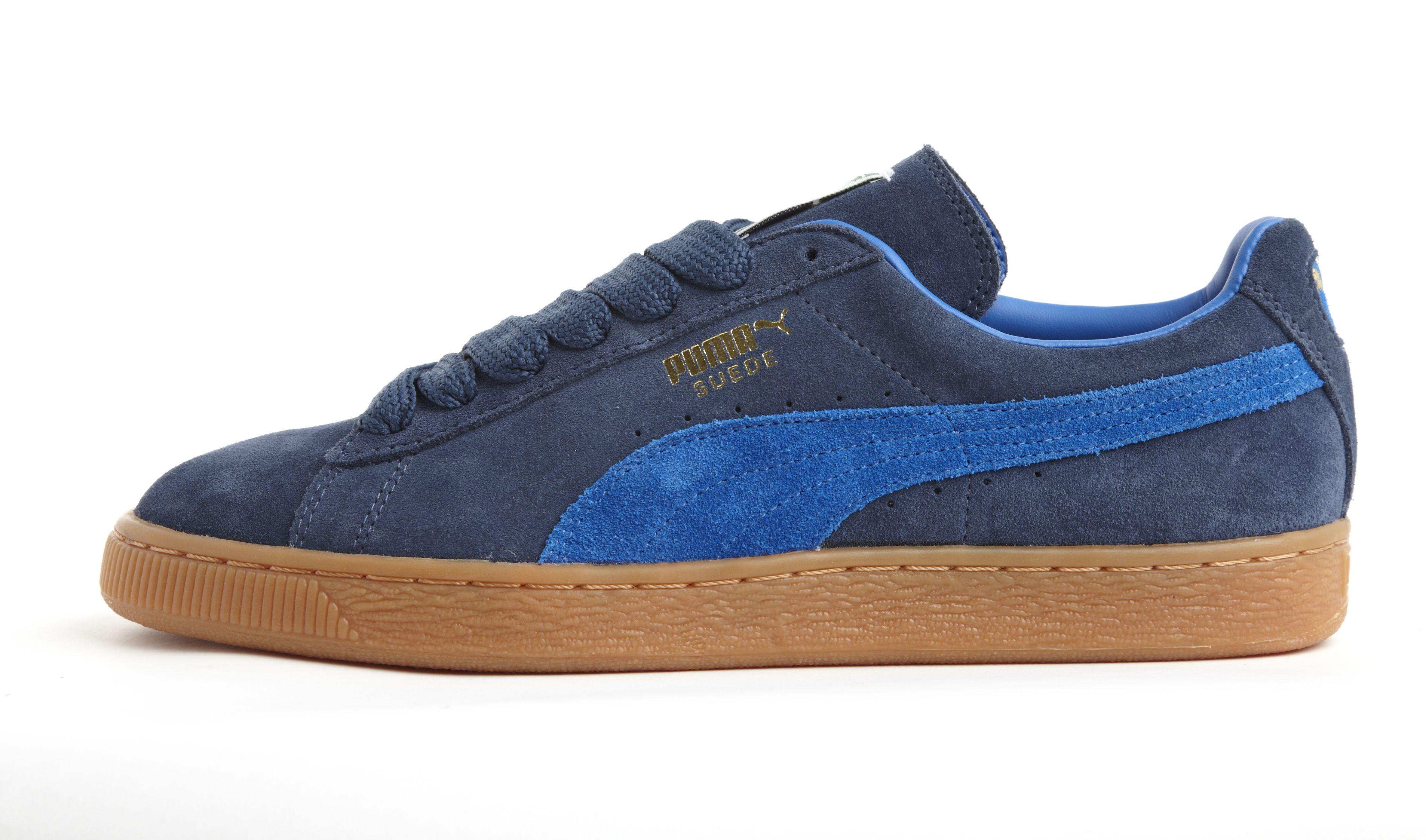 Puma Suede Navy/Blue gum