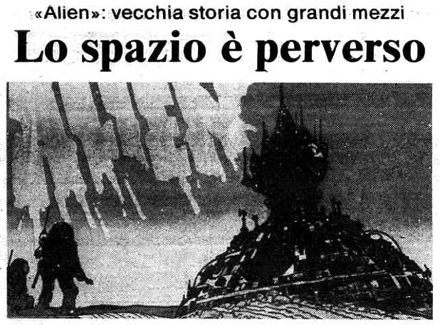 """ALIEN"" (id., 1963) di Ridley Scott, con Sigourney Weaver e Tom Skerritt. Italian release: October 27, 1979 #Alien #SigourneyWeaver #MoviePosters # #SFMovies"