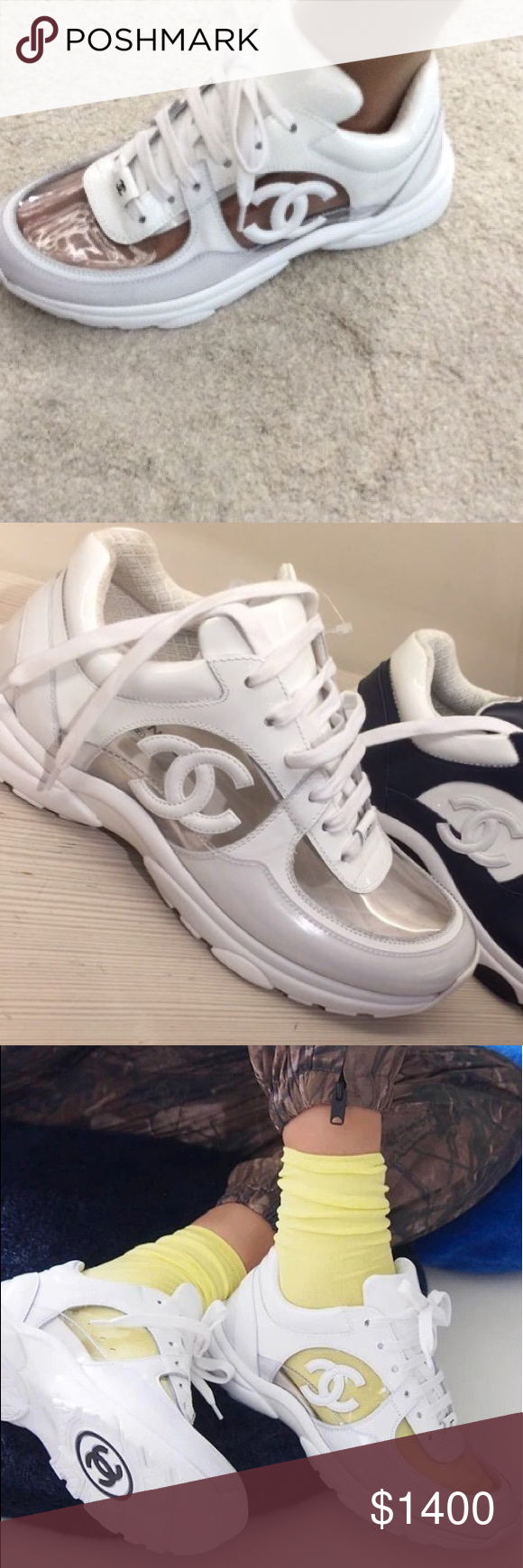 ae72348afb6 Chanel Runway Clear Transparent Sneakers PVC Extremely rare!! Sold out  everywhere. Brand new from Chanel boutique - box