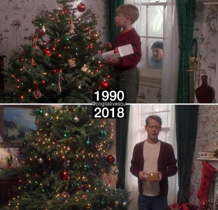 Maccualy Culkin Before And After Home Alone Holiday Decor Decor