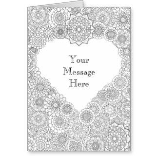 Valentine\'s Day Card: Adult Coloring Personalized Greeting Card ...