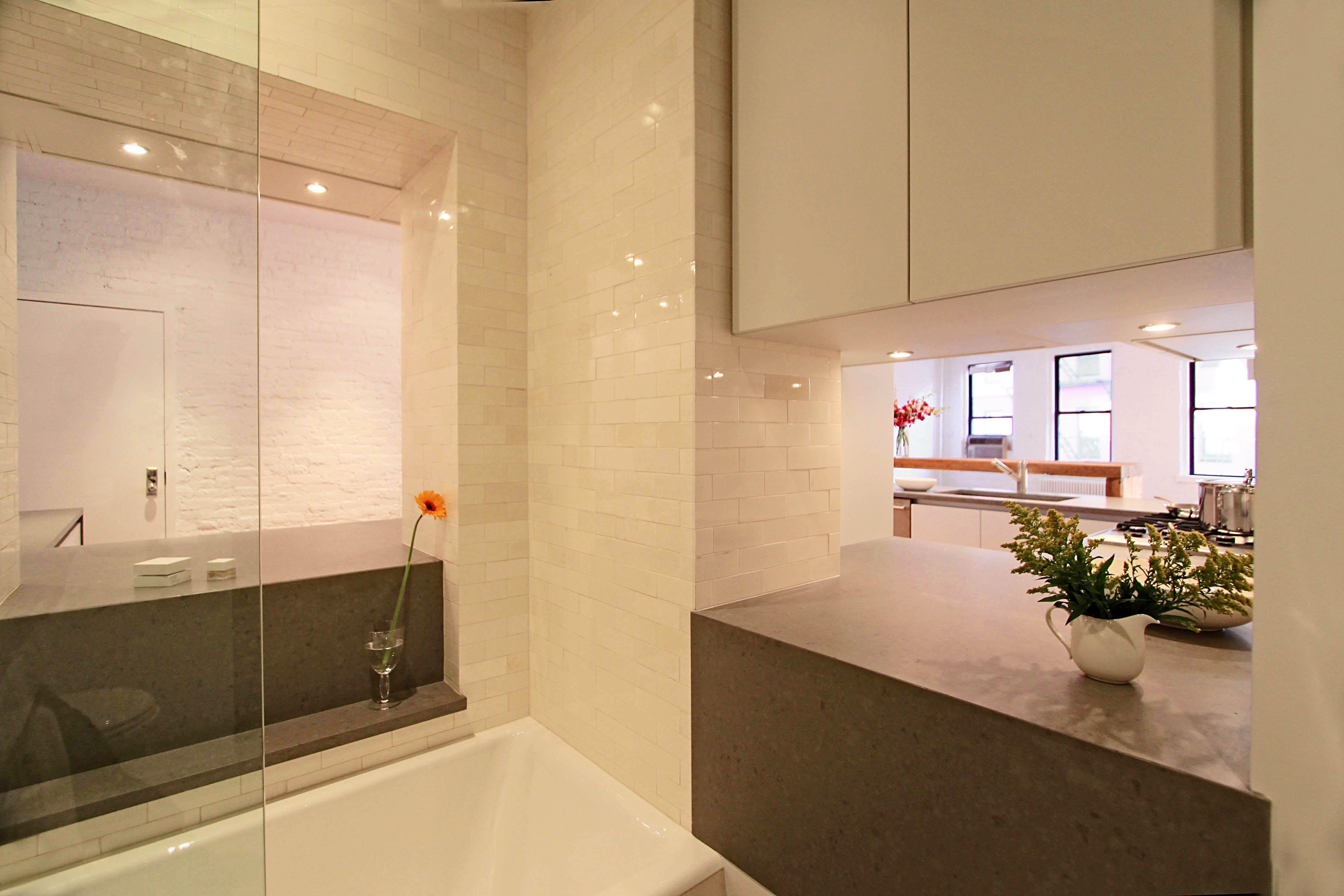 Soho Loft  Bathroom view www.i-beamdesign.com
