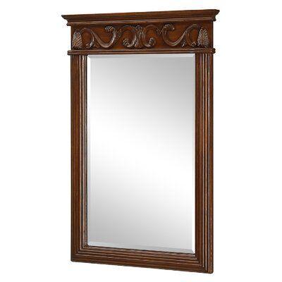 Charlton Home Jeremiah Bathroom Vanity Mirror Finish Brown Teak Mirror Elegant Lighting Mirror Wall