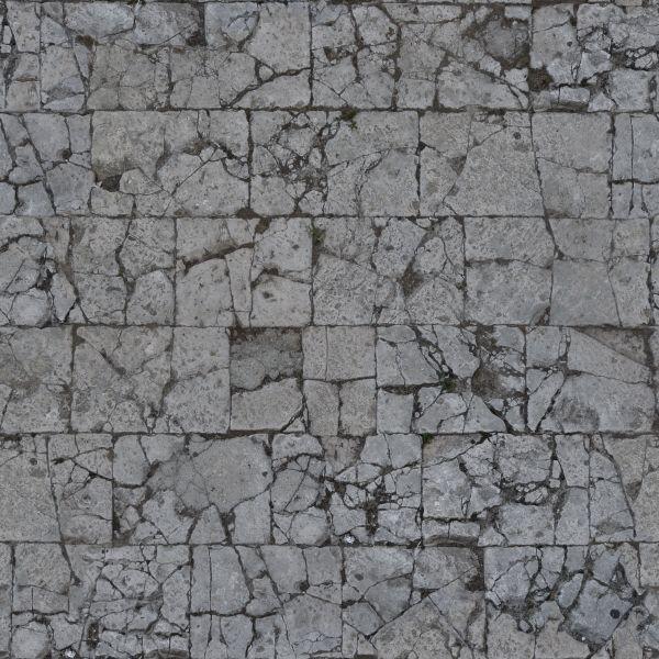 Seamless Damaged Pavement Texture 0096 Texturelib Pavement Stone Texture Texture