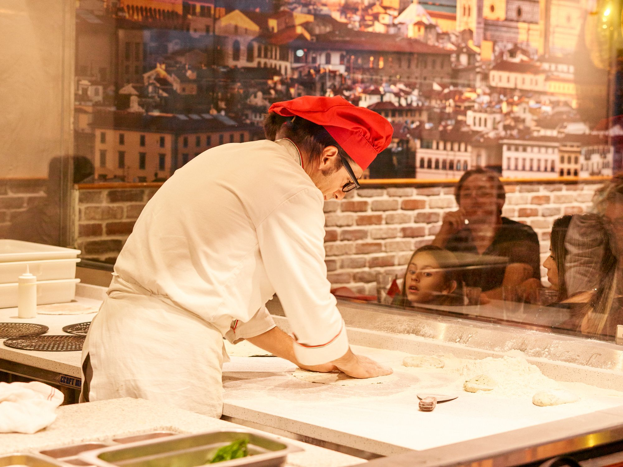 Our Pizzaiolo comes from Bari, has over 30 years