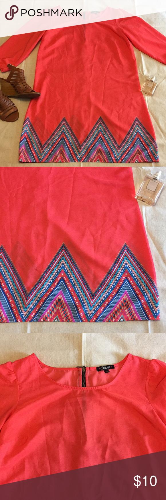Cute coral bebop dress sz m my posh closet pinterest dresses