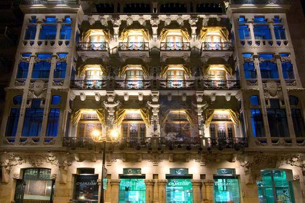 Fachada modernista Casino Mercantil de Zaragoza