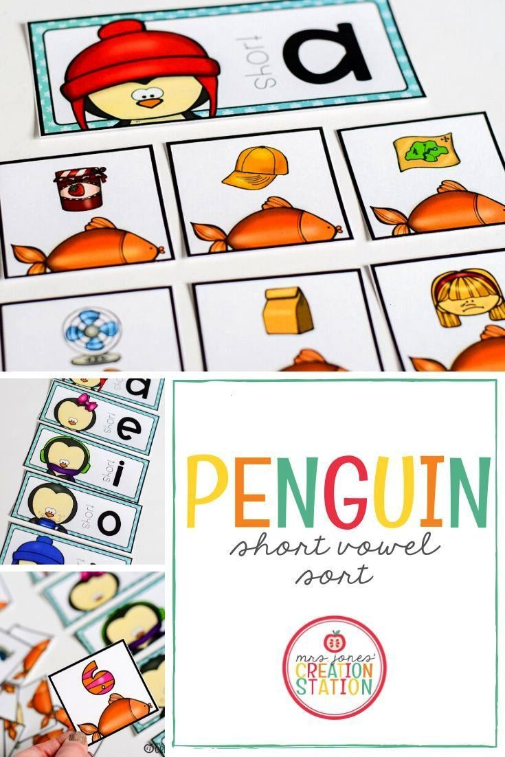 Center for Teaching Short Vowels  This free penguin center is fun and engaging for your students. L