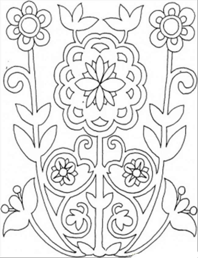 Dibujos abstractos para colorear y pintar. Imprimir