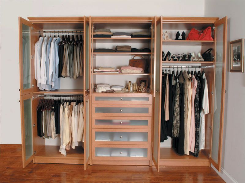 Closetorganizerssystems1166 wardrobe pinterest for Storage ideas for small bedrooms with no closet