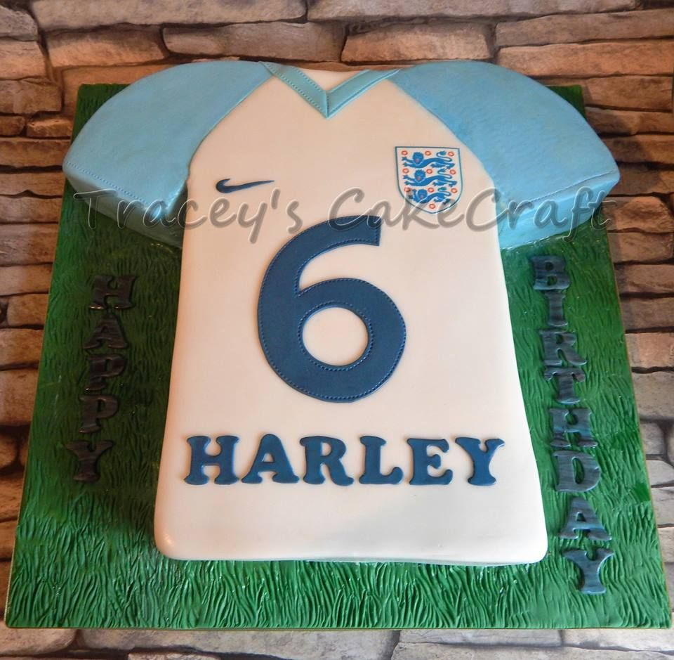 England Football Shirt Cake Birthday Cake Kids Cool Birthday Cakes
