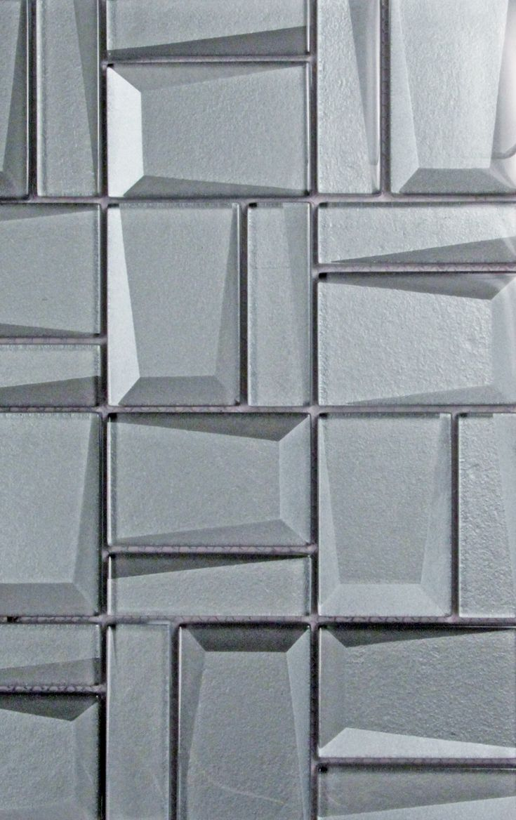 Prism Charcoal geometric mosaic glass tile | geometric tile ...