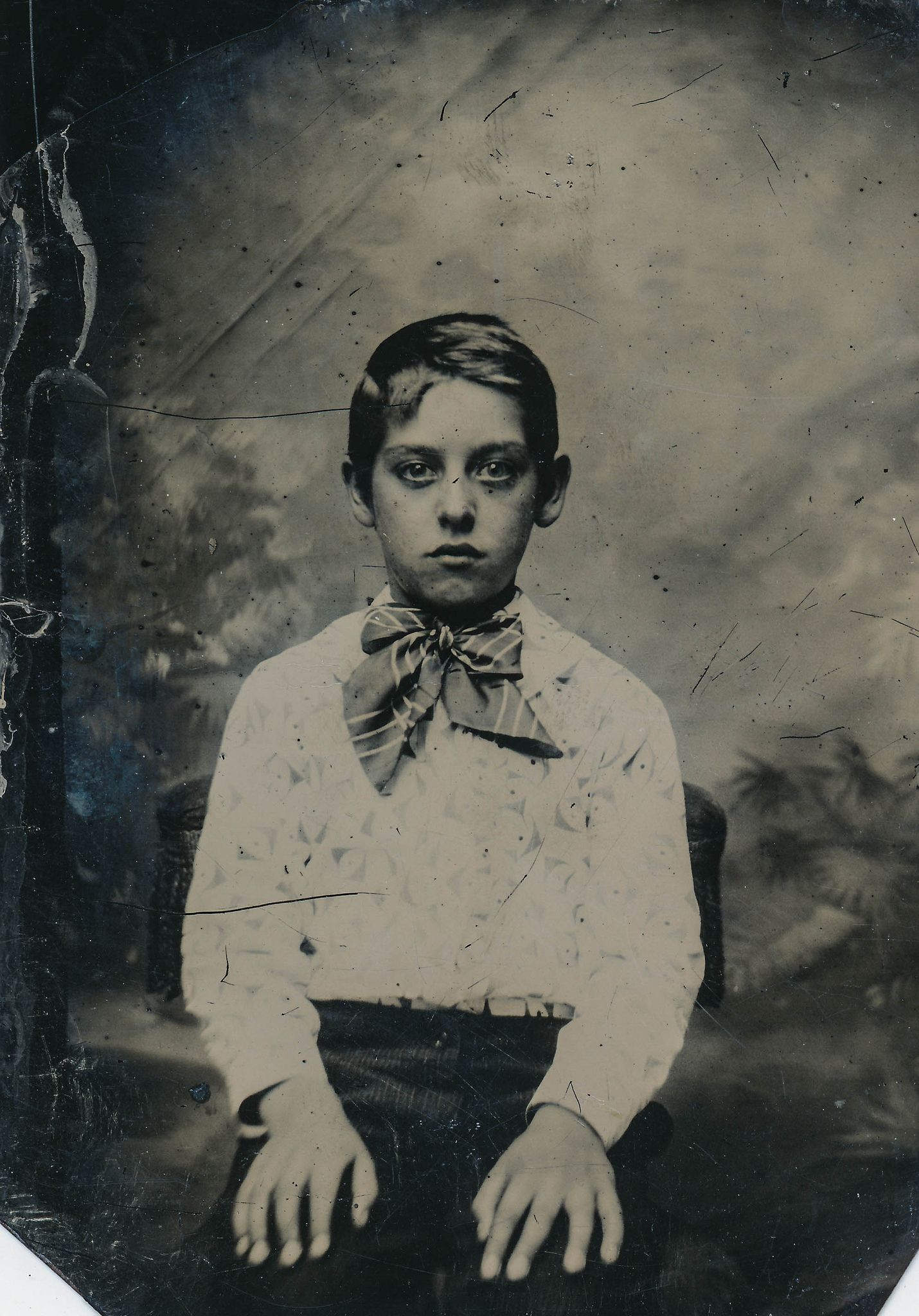 Tin Type Portrait Of Intense Young Boy In 2019