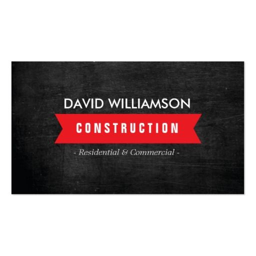 Red banner construction builder architect logo business card red banner construction builder architect logo business card colourmoves