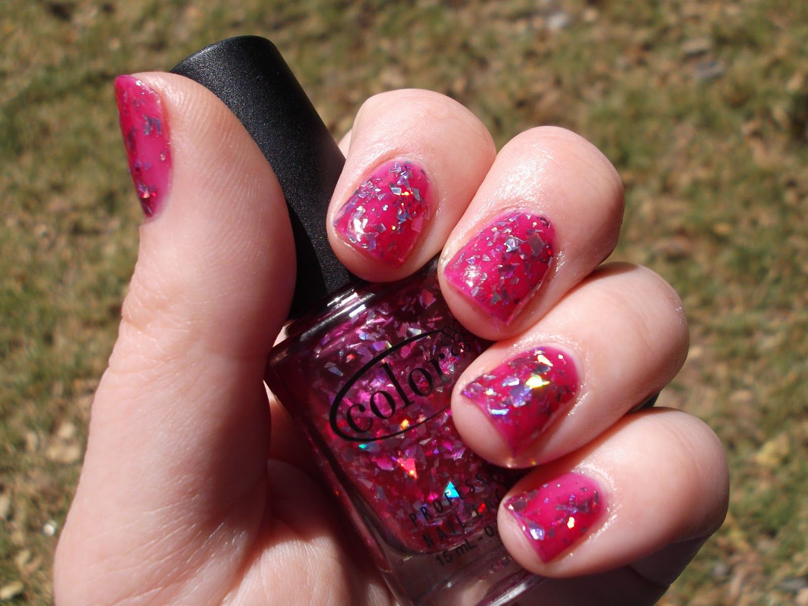 My manicure today (Fame and Fortune by Color Club). My inner 12 year old is pleased by my choices as an adult.