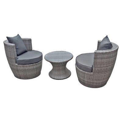 2 Sitzer Lounge Set Aus Polyrattan Mit Polster Lounge Mobel Gartenmobel Terrassenmobel