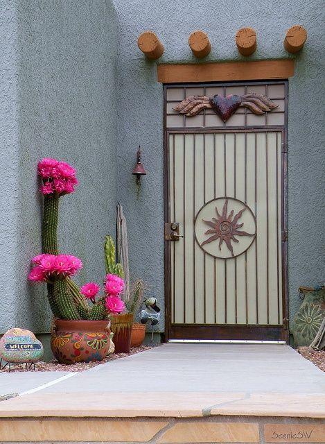 Door Cactus Blossoms Unique Doors