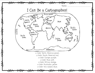 Nurturing Noggins: Continents, Maps, and Globes... Oh, My
