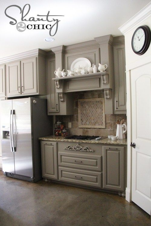 Choosing my battles... And a paint color | Grey kitchen ...