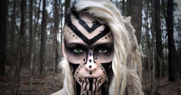 Google Viking Face Paint Warrior Makeup Tribal Makeup
