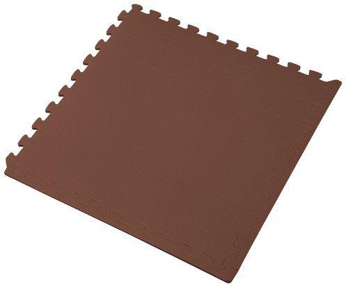 We Sell Mats Interlocking Anti-Fatigue EVA Foam Floor Mat, Brown We