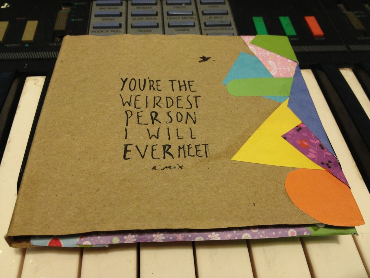 Take a look at this simple homemade CD sleeve cover art for ...