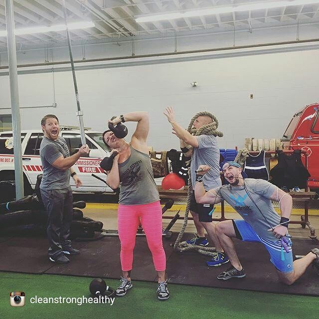 #Repost @cleanstronghealthy Same crew...different pose. If your not able to laugh  how are you expected to survive?  Row or run 100 m Static hold 100 m Rest 100 m For 900 m total  Then  Full tabata of  KB Swings Row or run 100 m Static hold 100 m Rest 100 m For 900 m total Tabata Press with bar Row or run 100 m Static hold 100 m Rest 100 m For 900 m total Tabata Jump Rope  @icon_o_clast @kristy_victor @newmanb20 @cleanstronghealthy @adroitfitness #adroitfitness #adifferentkindofbreed #tabata…