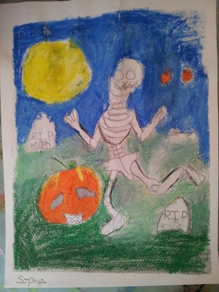 a good Halloween picture from Saturday's Art Club at Faux Arts