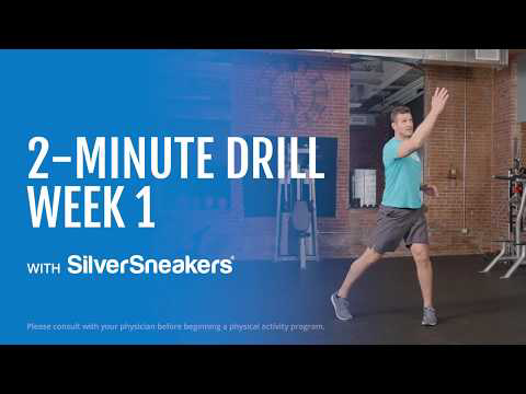 This 2 Minute Drill Series Is A Total Body Cardio Toning And Coordination Workout For Older Adults Do It Alone Or Workout Programs Workout Videos Exercise