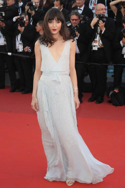 Irina Lazareanu attends the 'Okja' screening during the 70th annual Cannes Film Festival at Palais des Festivals on May 19 2017 in Cannes France