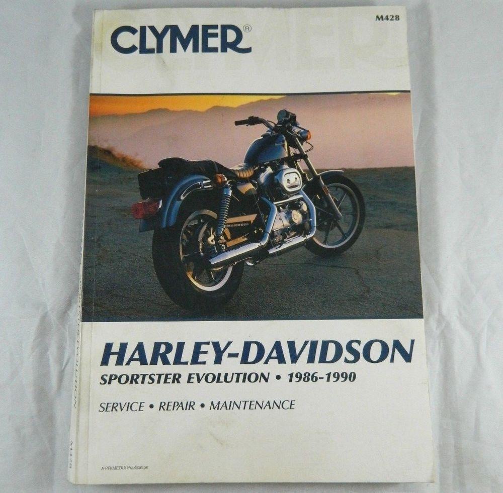 Clymer Harley Davidson Sportster Evolution 1986-1990 Shop Repair Manual Book