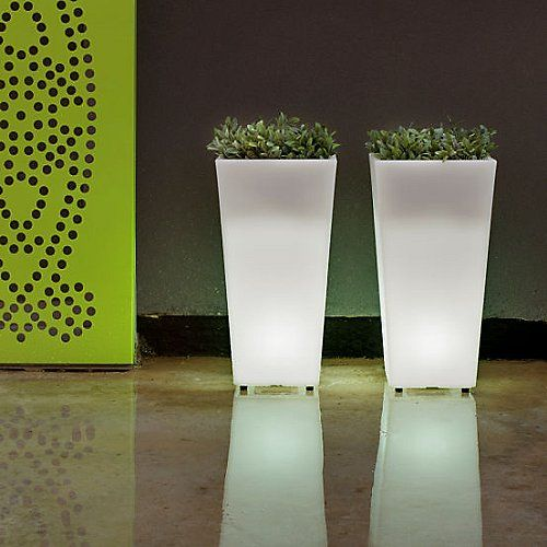 Aix Squara LED Planter | Led, Outdoor planters