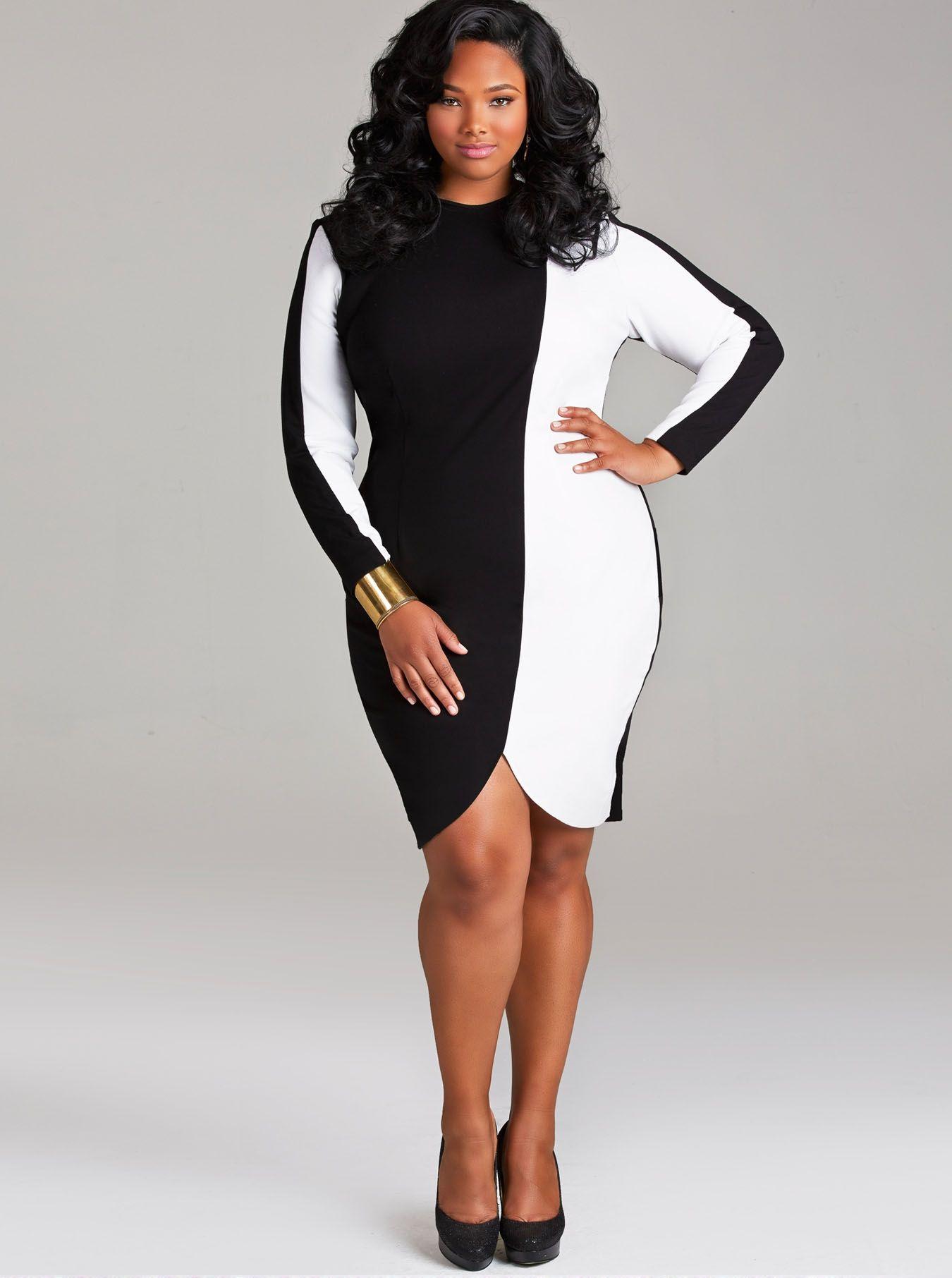 Monif Tabitha Colorblock Dress With Scalloped Hem All I Want