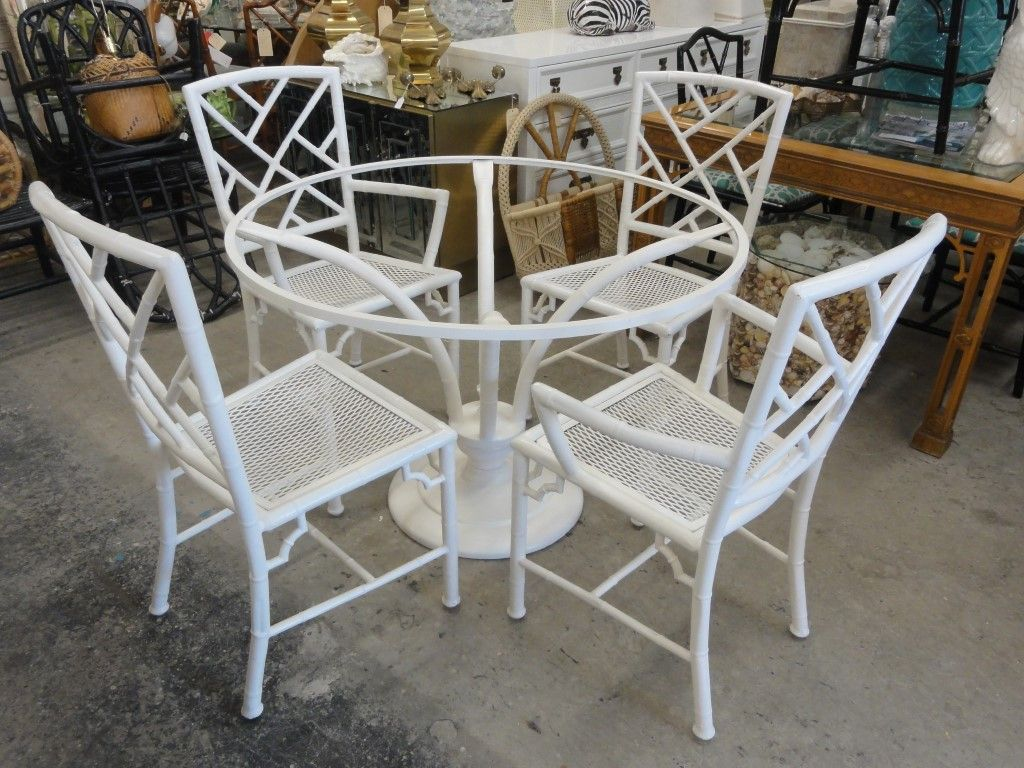 Faux Bamboo Chippendale Meadowcraft Set