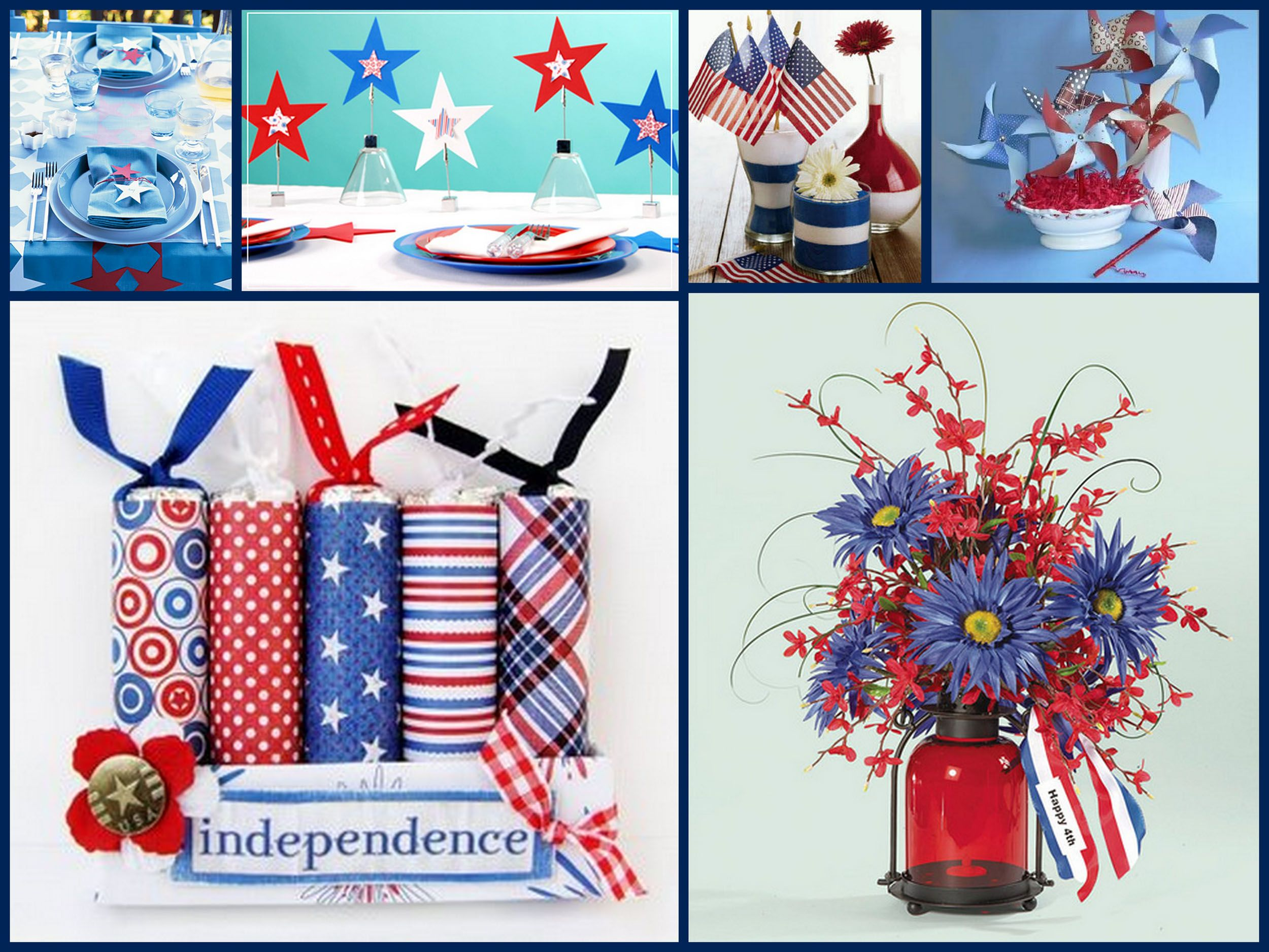 Fourth Of July Decor Easy Fourth Of July Centerpieces