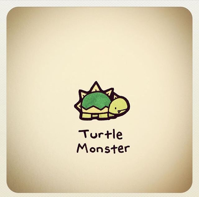 Turtle Monster Things To Draw When Bored Pinterest Tortue