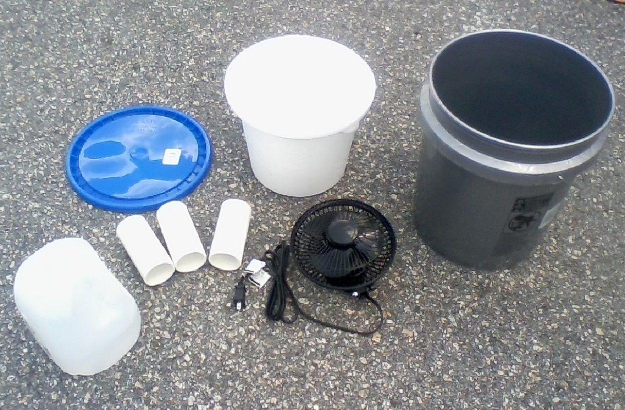 5 gallon bucket air conditioner assembled tent swamp a c